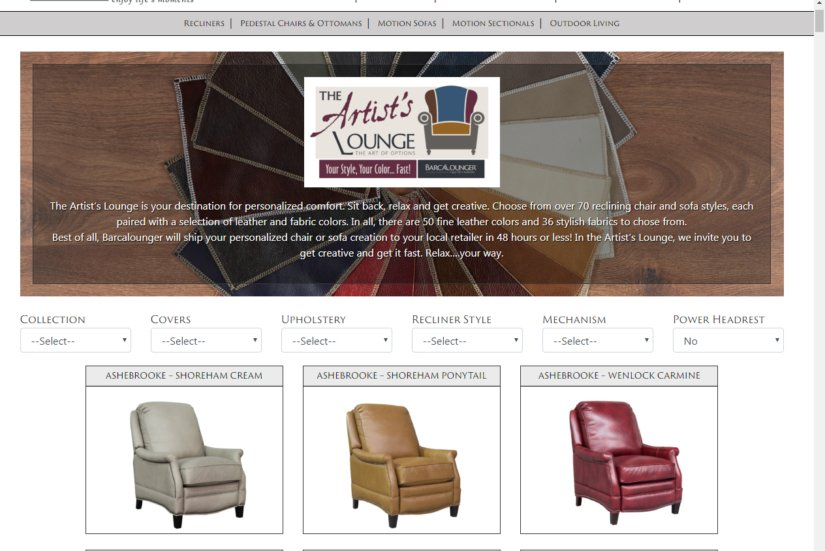 The U0027Artistu0027s Loungeu0027 Is An Assortment Of Some 70 Recliner And Sofa Styles  And Nearly 90 Cover Choices That Allow You To Get Creative While  Personalizing ...